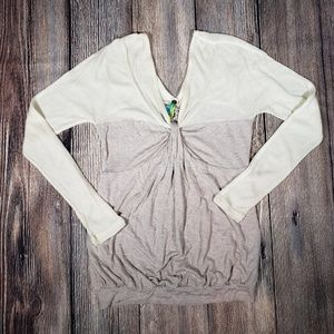 Free People thermal & knit twist top medium
